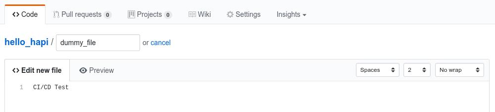 GitHub create dummy file