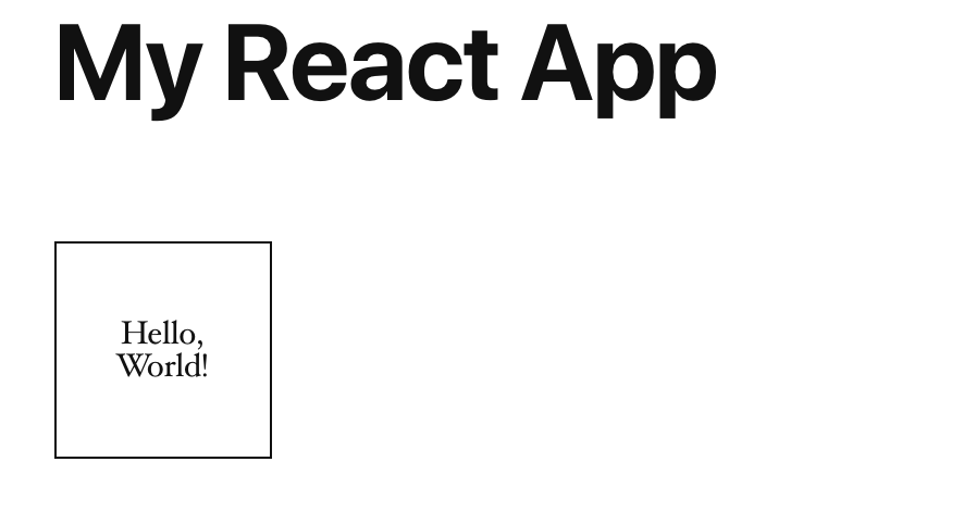 Simplified React Application