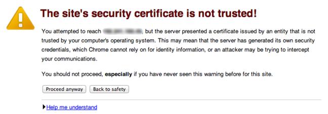 Chef SSL warning