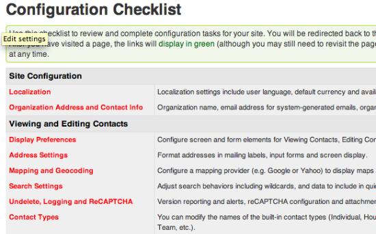 CiviCRM checklist