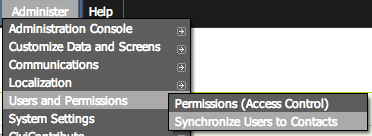 CiviCRM synchronize users
