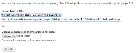 Drupal CiviCRM download