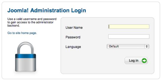 Joomla admin login