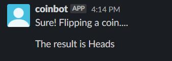 Prueba de lanzar una moneda