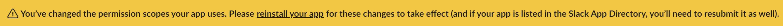 Banner que indica que debe reinstalar su aplicación