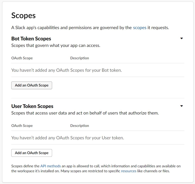Seleccionar el botón Añadir un alcance de OAuth
