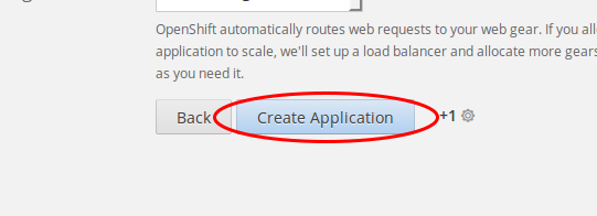 "Click ""Create Application"""