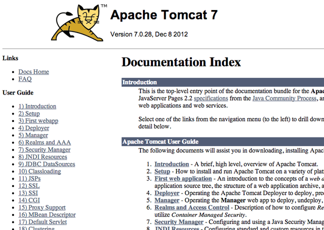 DigitalOcean Tomcat docs