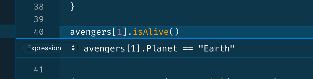 """Adding condition 'avengers[1].Planet == """"Earth""""'"""