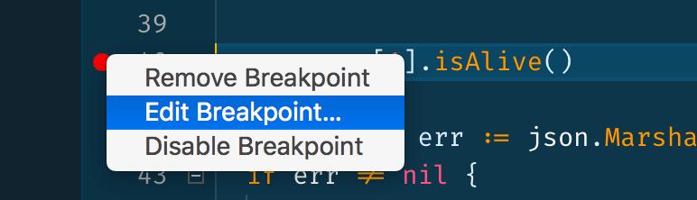 """""""Edit breakpoint…"""" menu option"""