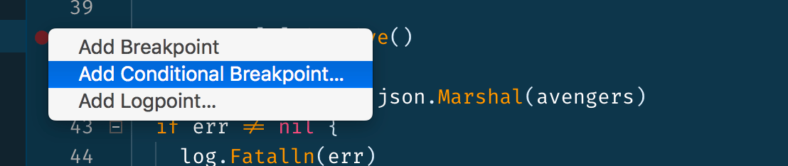 """""""Add Conditional Breakpoint…"""" menu option"""