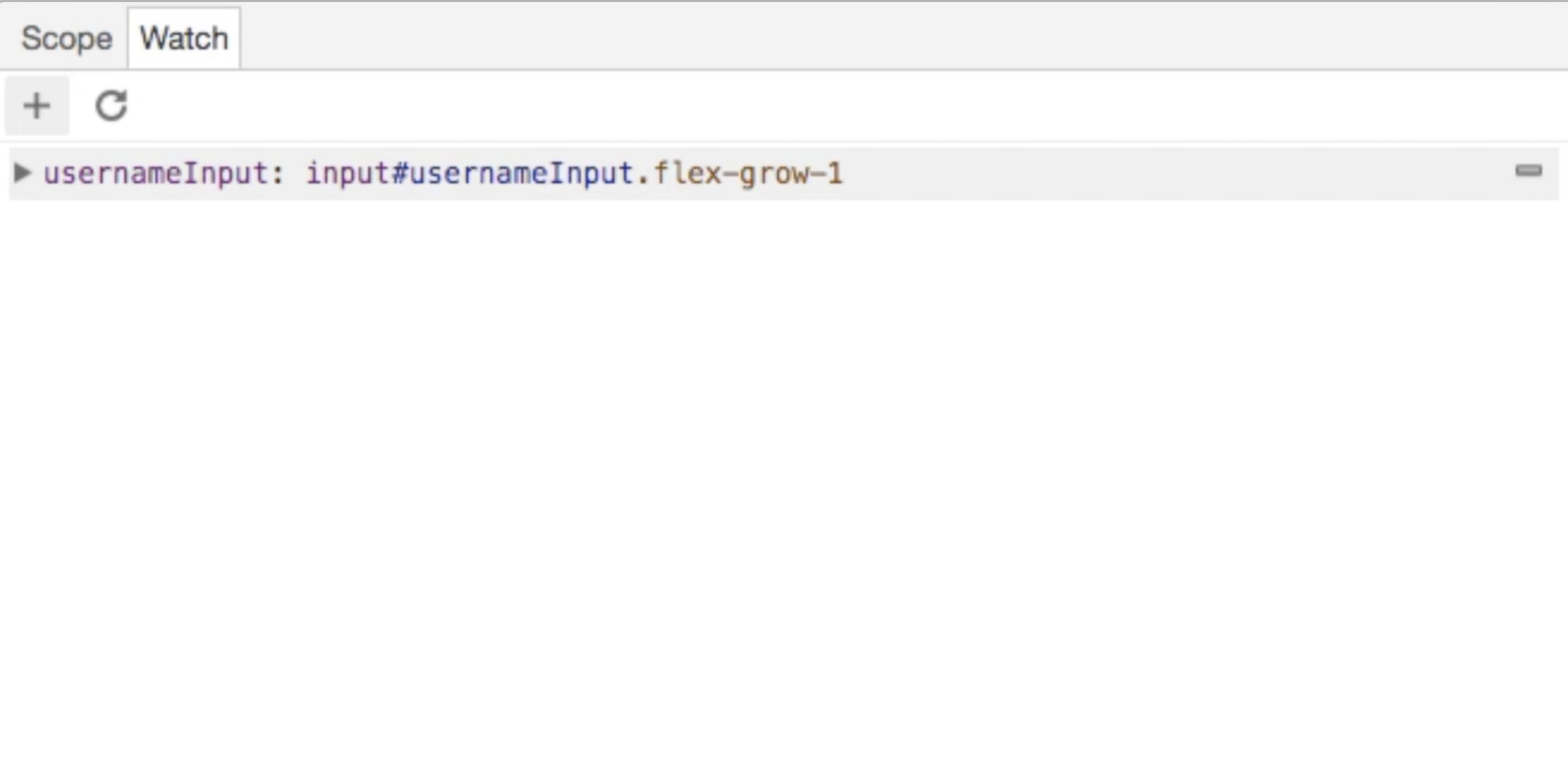 Watch tab in Chrome DevTools