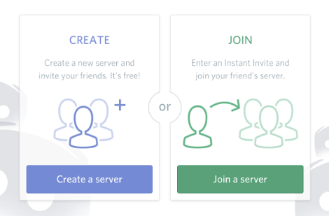 Create server or Join server Discord