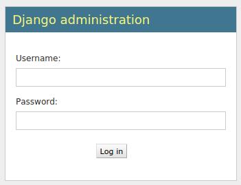 Django admin login