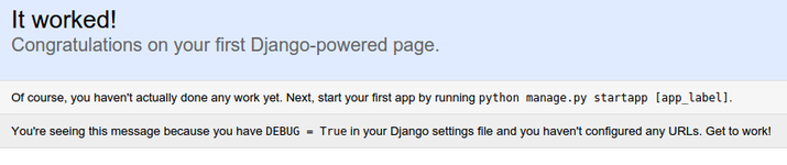Django sample site
