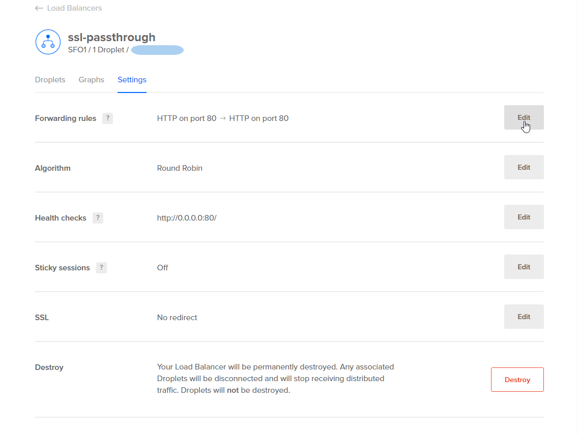 How to configure ssl passthrough on digitalocean load balancers from the new rule dropdown well select the https protocol which will open a new row of options in the dropdown menu that says certificate 1betcityfo Images