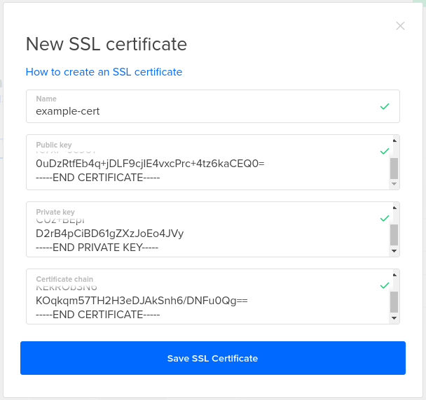 DigitalOcean Load Balancer add certificate