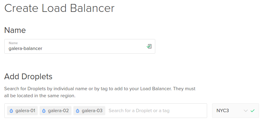 Add Galera nodes to Load Balancer