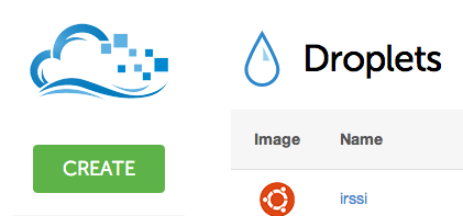 DigitalOcean create droplet