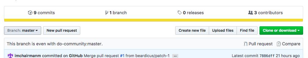 Create file button on GitHub screenshot