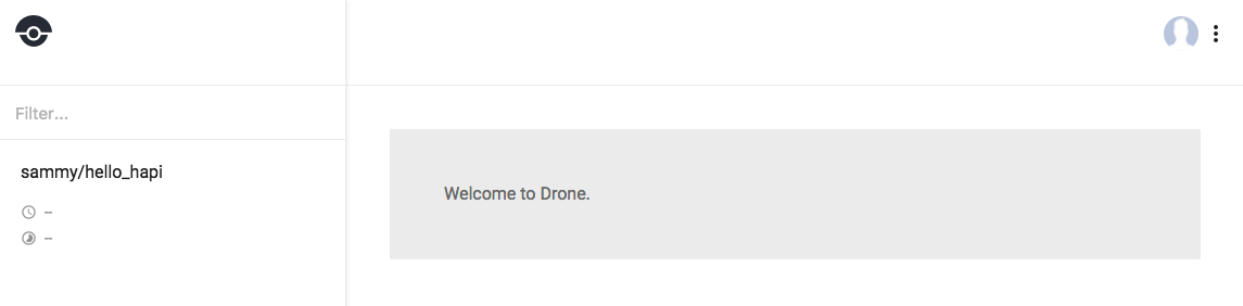 dashboard with hello_hapi and no build info