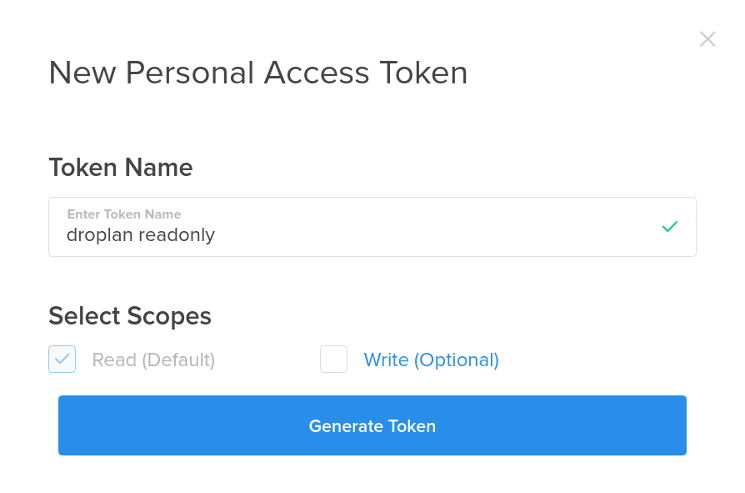 Generate New Token