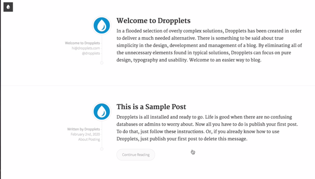 Dropplets initial config