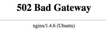 Nginx 502 Bad Gateway