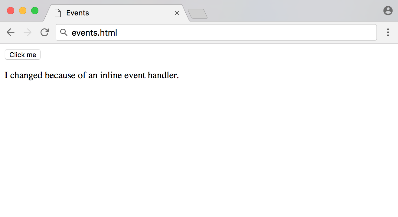 First response to event on events.html rendering