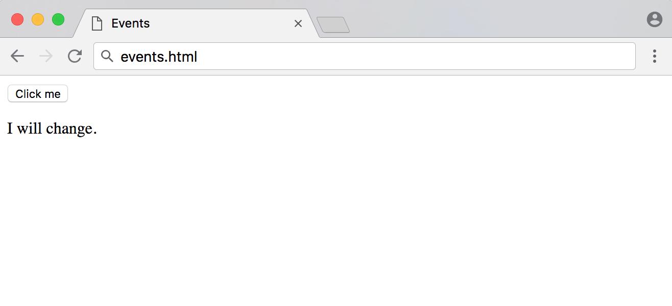 events.html与事件处理程序的初始加载