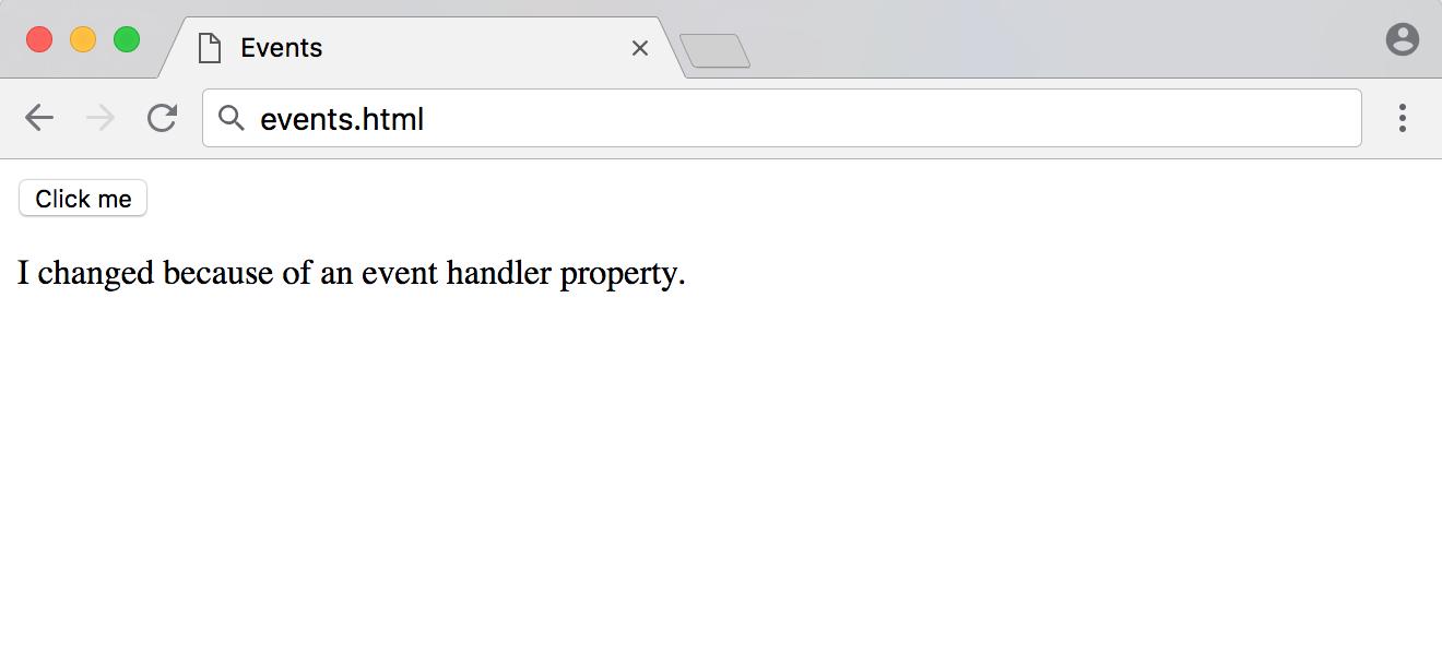 events.html的事件处理程序响应