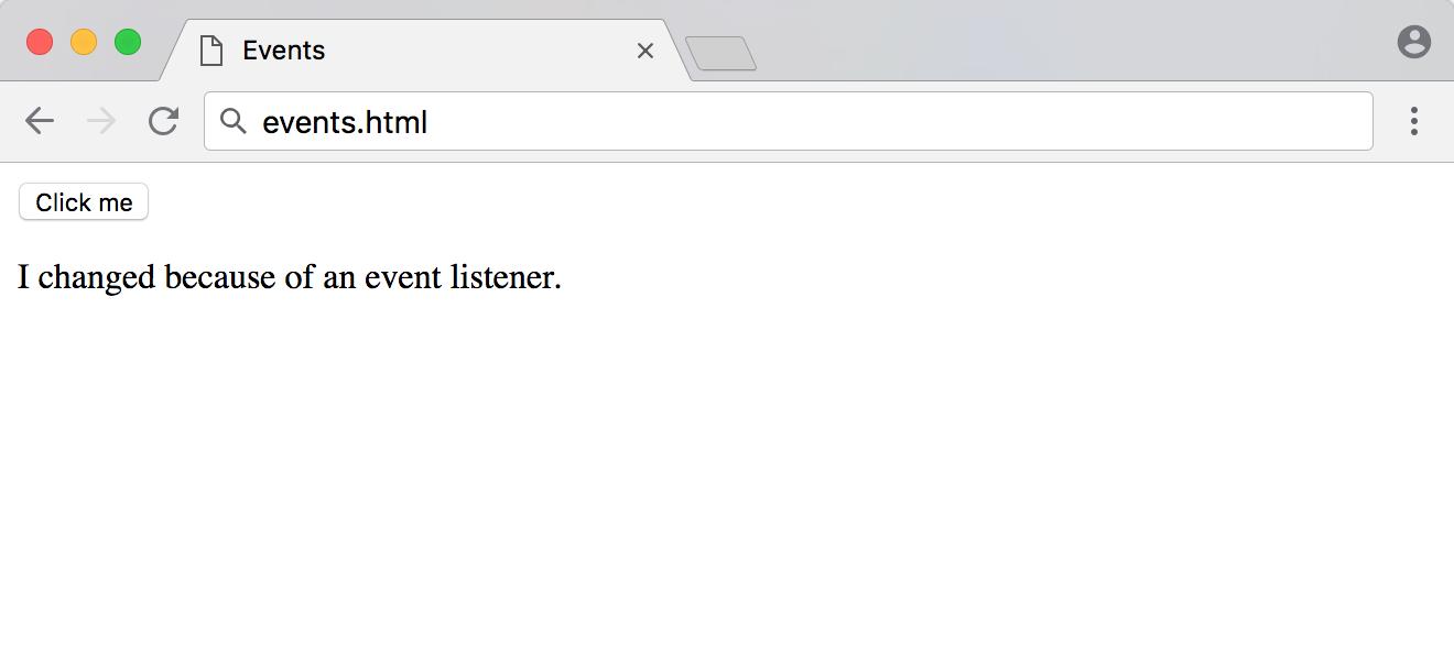 events.html的事件监听器响应