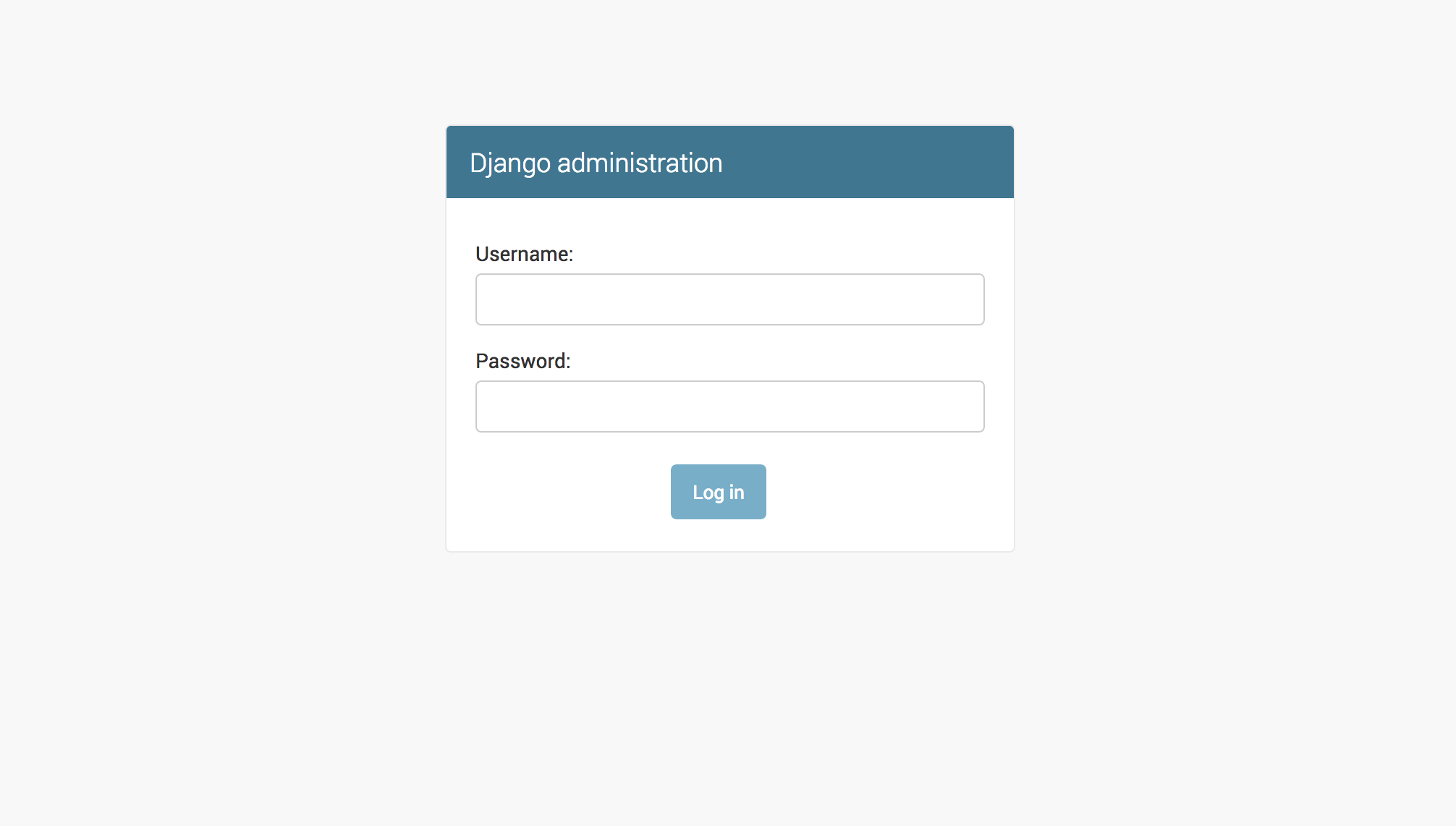 Django Admin Login Screen