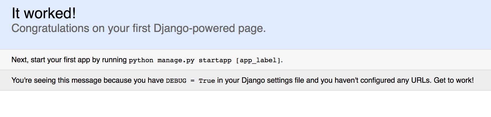 Django Default Page