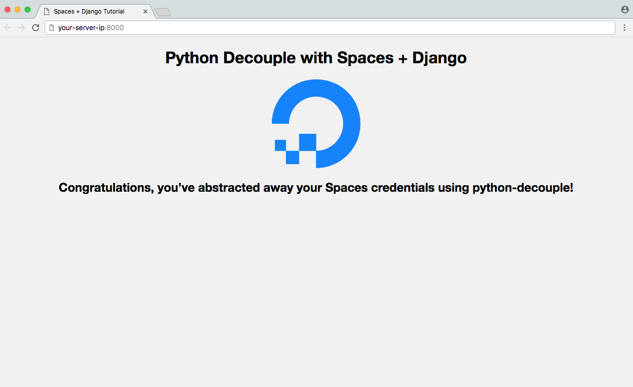 DigitalOcean Spaces Django and Python Decouple Example App