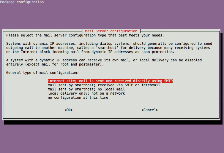 How To Install the Send-Only Mail Server