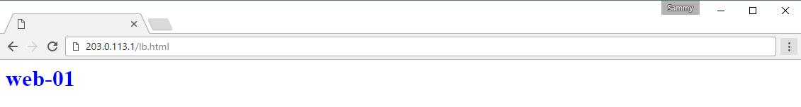 Screencap of web-01 Test Page
