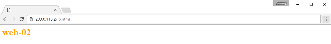 Screencap of web-02 Test Page
