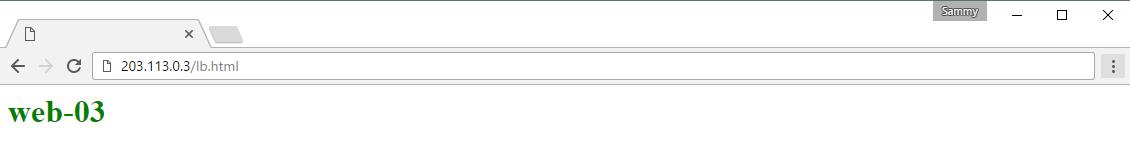 Screencap of web-03 Test Page