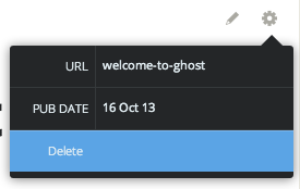 Ghost delete post button