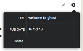 Ghost post configuration