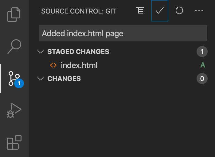 Tangkapan layar dari berkas yang ditambahkan dengan indikator huruf A dan pesan penerapan