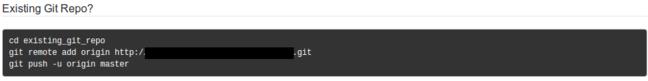 GitLab existing repo
