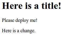 deploy changes