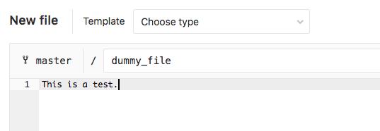 GitLab dummy file