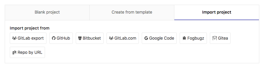 GitLab new project name