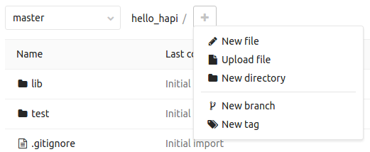 GitLab new file button