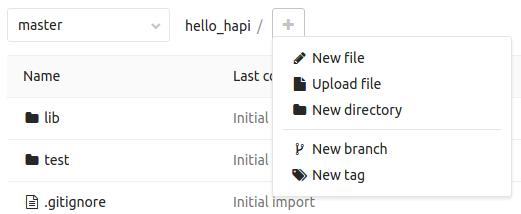 GitLab new file button