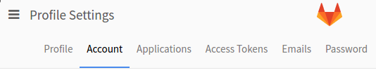 GitLab account menu item
