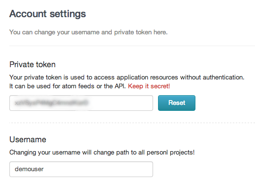 DigitalOcean GitLab account settings